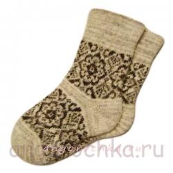 Женские вязаные носки с рисунком