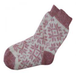 Женские  шерстяные вязаные носки с резинкой