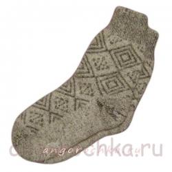 Женские  шерстяные носки в клетку