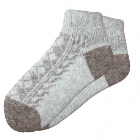 Короткие теплые  женские вязаные носки с резинкой