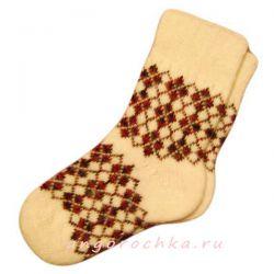 Мужские вязаные шерстяные носки с орнаментом