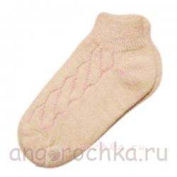 Короткие однотонные женские носки с резинкой