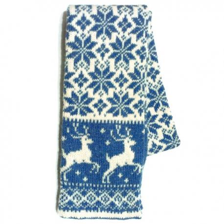 Вязаный шерстяной шарф с рисунком