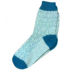Женские голубые шерстяные носки