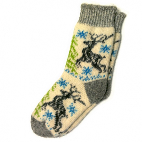 Шерстяные носки с  олеями