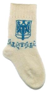 вязаные носки с логотипом