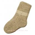 Шерстяные вязаные носки с полосками