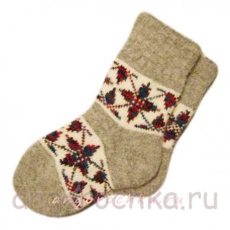 Мужские шерстяные вязаные носки