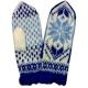 Вязаные варежки-джурабы синие