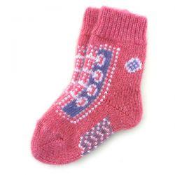 Красные детские шерстяные носки для маленьких футболистов