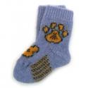 Теплые детские шерстяные носки с рисунком - лапкой