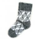 Теплые детские шерстяные носки с ромбовидным орнаментом
