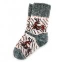 Детские шерстяные носки с оленем