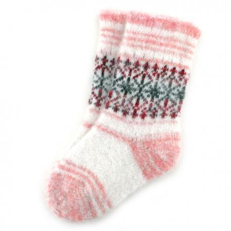Подростковые шерстяные носки с орнаментом