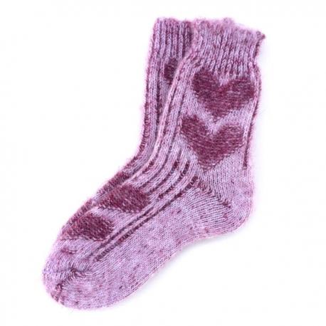 Подростковые вязаные шерстяные носки для девочек.