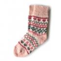 Детские вязаные носки с орнаментом