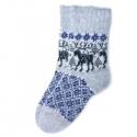 Серые носки с лосями