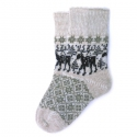 Бежевые носки с лосями