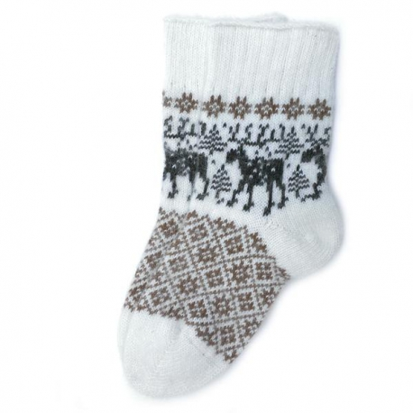 Носки с лосями