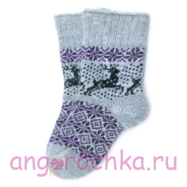 Шерстяные носки с оленями - 701.73