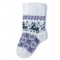 Вязаные носки с оленями