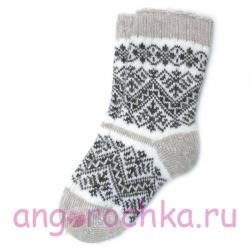 Женские шерстяные носки с орнаментом