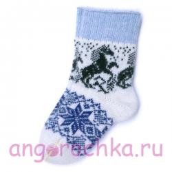 Женские шерстяные носки лошадками