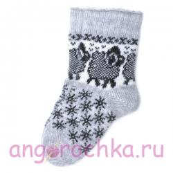 Женские шерстяные носки с овечками