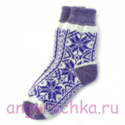 Женские шерстяные носки со снежинками