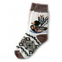 Женские шерстяные носки с уткой