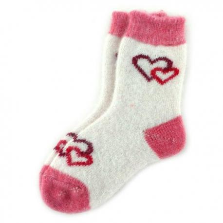Женские шерстяные носки с сердечками