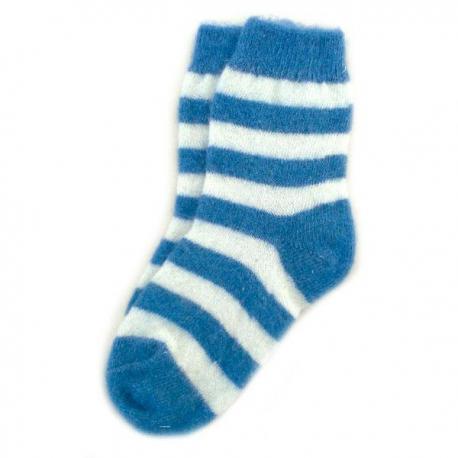 Женские шерстяные носки в синюю полоску