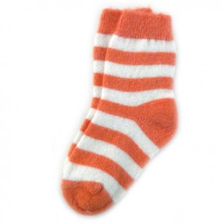 Женские шерстяные носки в оранжевую полоску