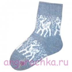 Женские шерстяные носки с бемби