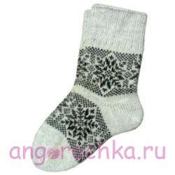"""Женские вязаные носки с узором """"снежинки"""""""
