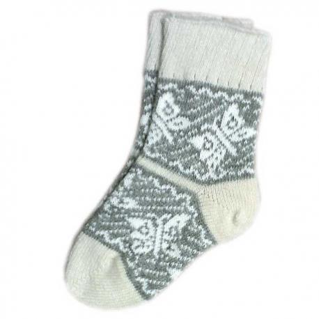 Женские шерстяные носки с оленями