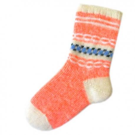 Женские теплые носки кораллового цвета