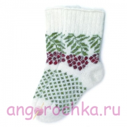 Белые носки с рябиной
