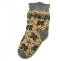 Вязаные шерстяные носки с орнаментом в ромбик