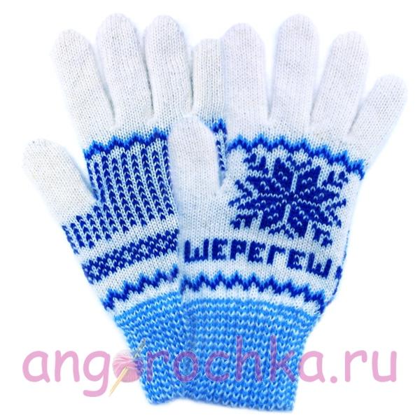 Вязаные шерстяные перчатки с логотипом