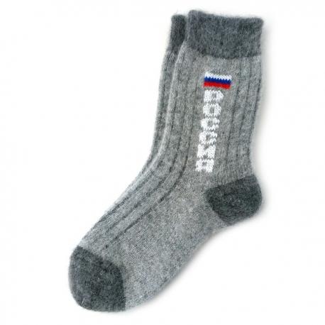 """Теплые шерстяные носки """"Россия"""""""