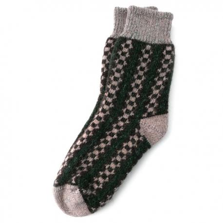 Теплые шерстяные носки с орнаментом
