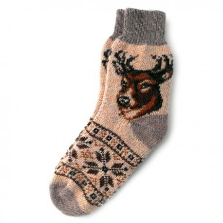 Теплые шерстяные носки с орнаментом и рисунком