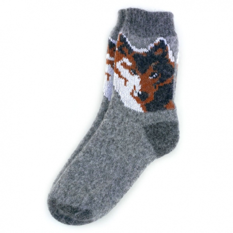 Теплые шерстяные носки с рисунком