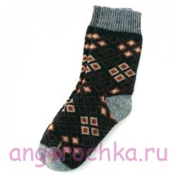 Мужские шерстяные носки с ромбами