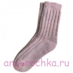 Теплые шерстяные носки с резинкой