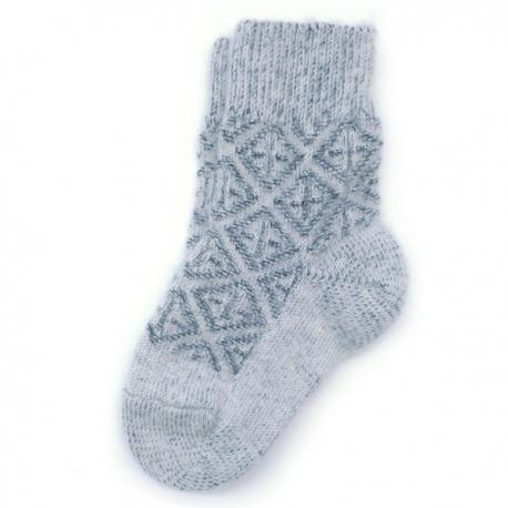 Детские теплые шерстяные носки с орнаментом