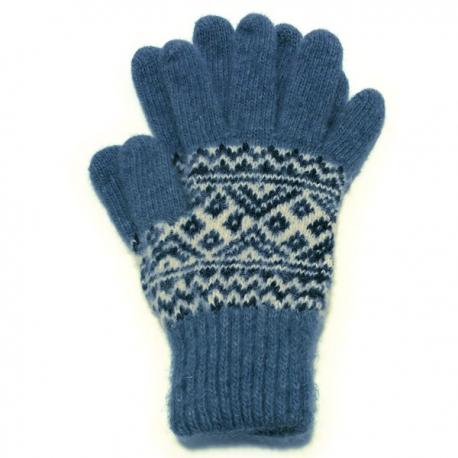 Мужские шерстяные перчатки с рисунком