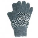 Вязаные мужские шерстяные перчатки