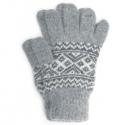 Вязаные мужские шерстяные перчатки с рисунком